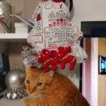 Gatto albero di Natale di stoffa
